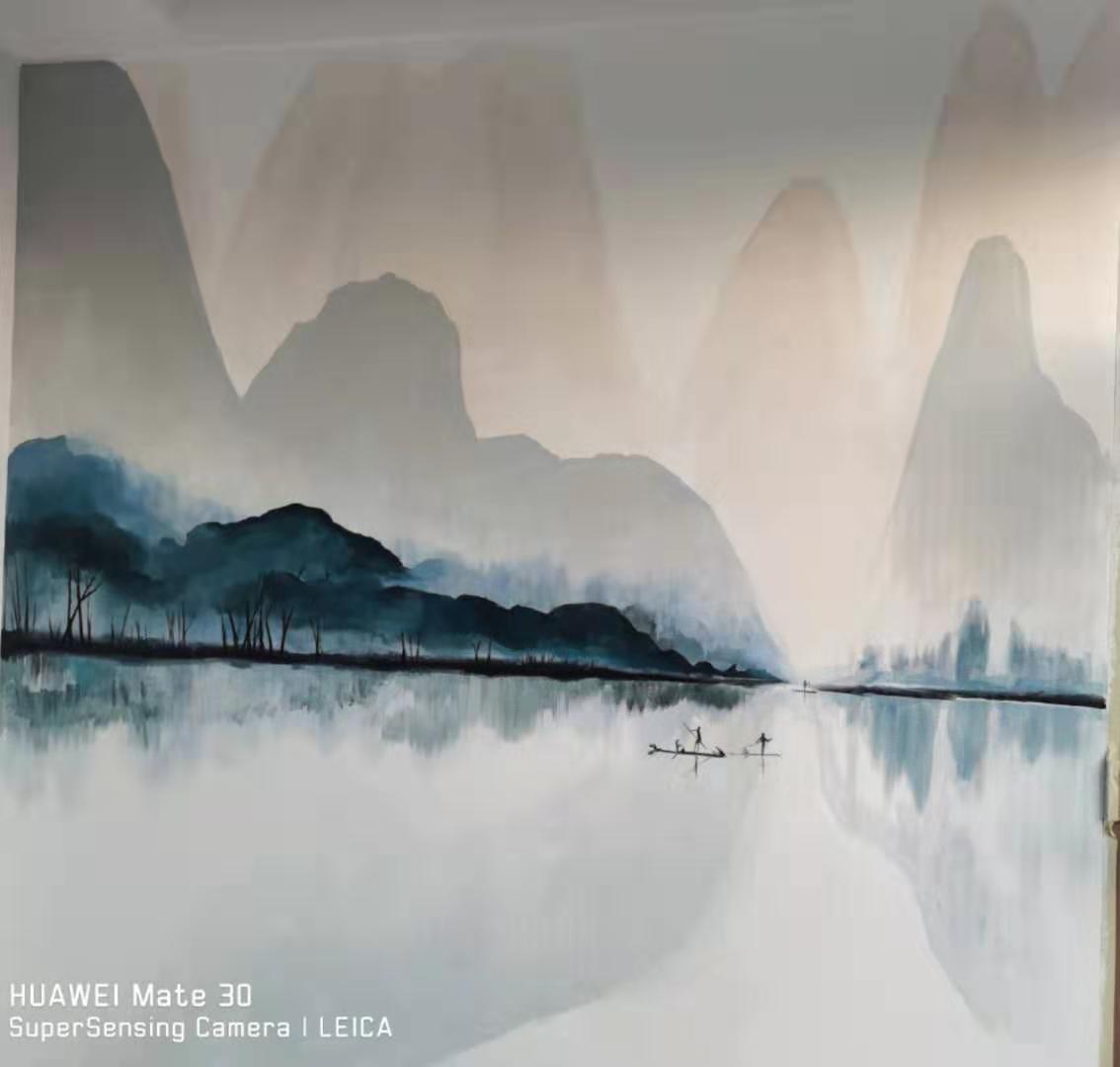 泰山脚农家院墙体彩绘